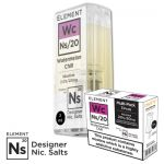 "Nikotinsalz Liquid Aspire Gusto - ELEMENT ""Wc"" Ns20 POD, 3er Pack"